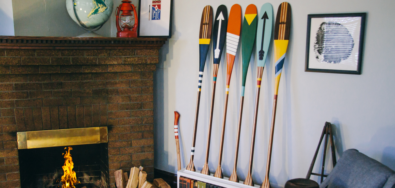 Painted Canoe Paddles | Sanborn Canoe Company