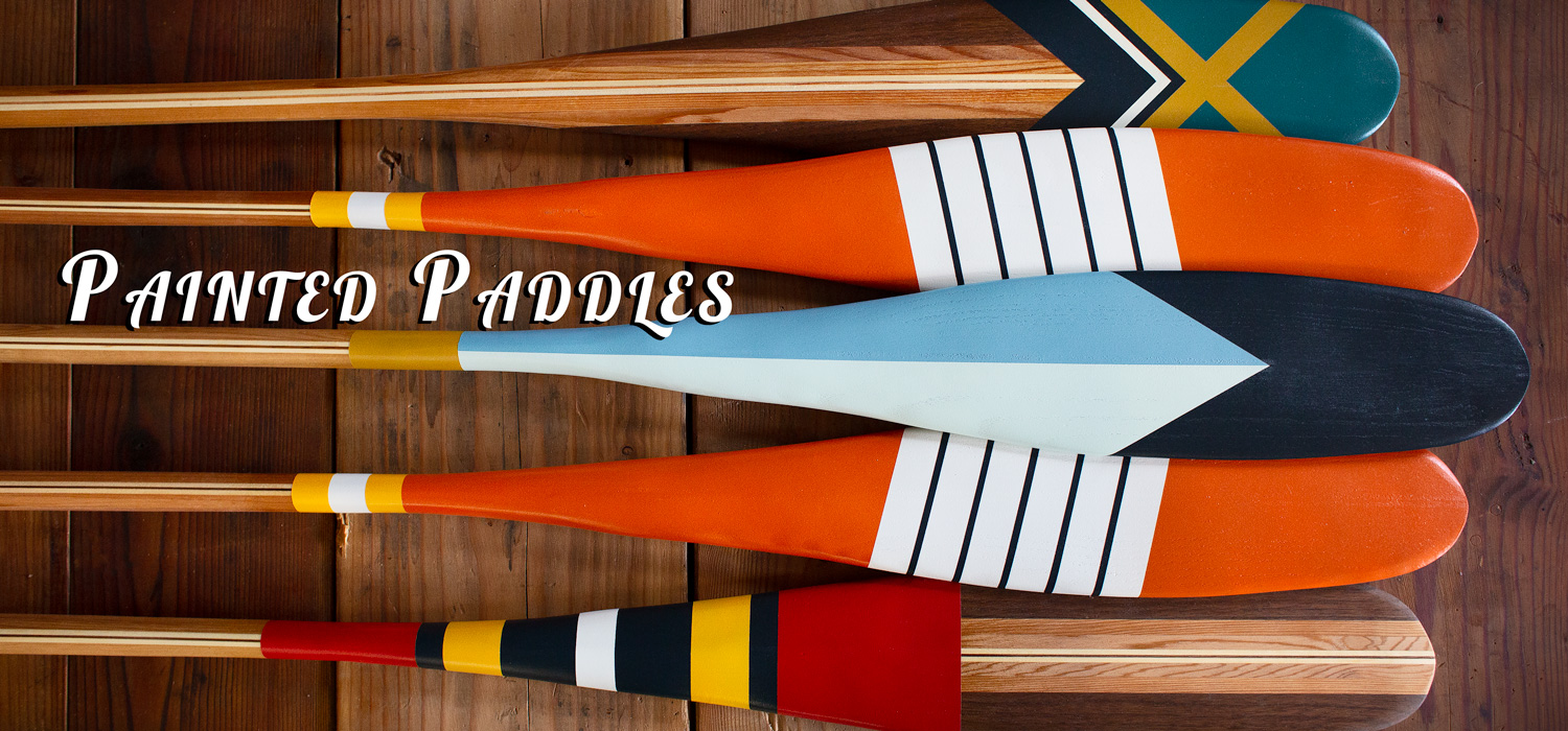 Sanborn Canoe Co - Painted Paddles