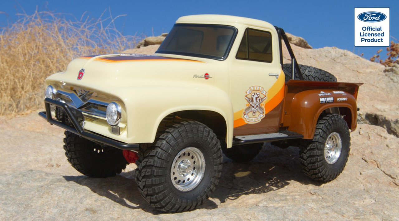 1/10 SCX10 II 1955 Ford F-100 Truck 4WD RTR, Brown (AXI03001T1)
