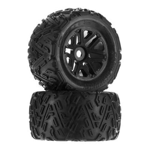 AR550010 dBoots 'Sand Scorpion MT 6S' Tire Set Glued (Black) (2pcs)
