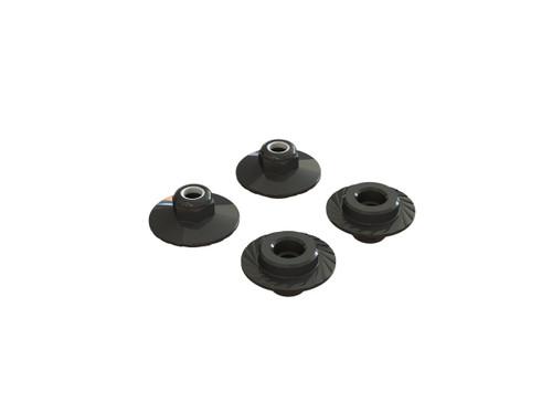 AR708007 -- Flanged Lock Nut 5x8mm (4) (ARAC9698)