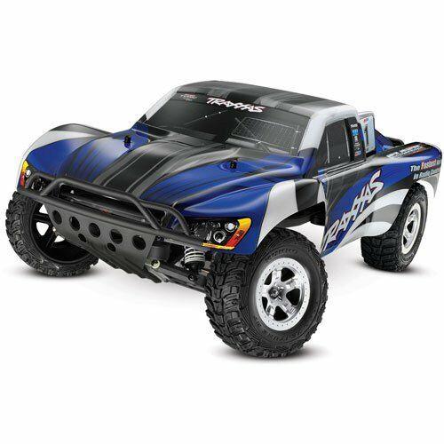 TRA58024 -- 1/10 Slash 2WD Short Course 2.4GHZ Vehicle, Blue/Black