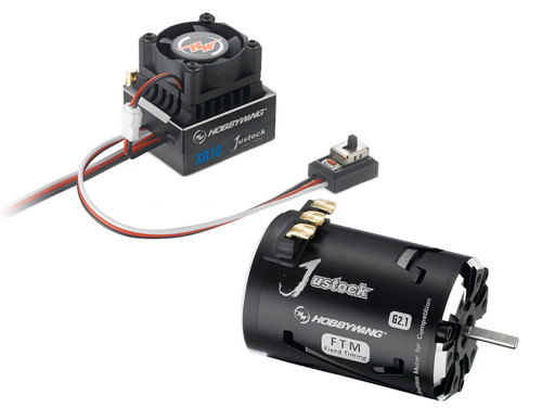 XR10 Justock ESC, w/ Justock 3650 SD G2.1 Sensored Brushless Motor (17.5 Turn) - Combo