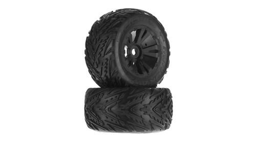 Minokawa MT 6S Tire Wheel Glued Black (2) (ARAC9649)