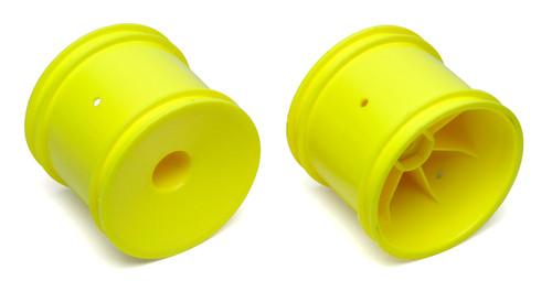 ASC7853 -- 1/10 Truck Rear Wheels, 12mm Hex, Yellow (2)