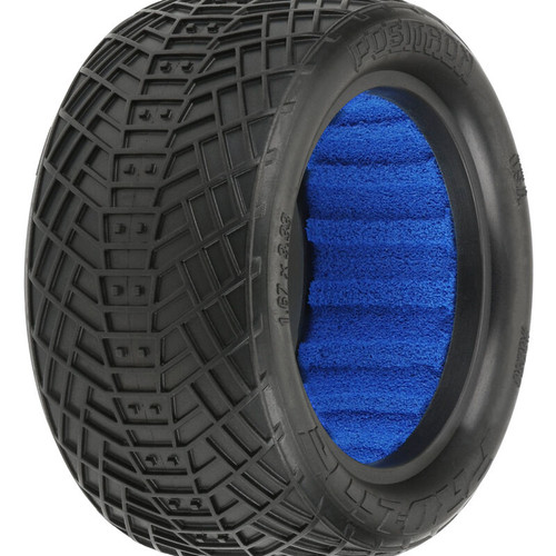PRO825603 -- 1/10 Positron 2.2 4WD Off-Road Buggy Rear Tires with Closed Cell Foam Inserts, M4 - Super Soft (2)