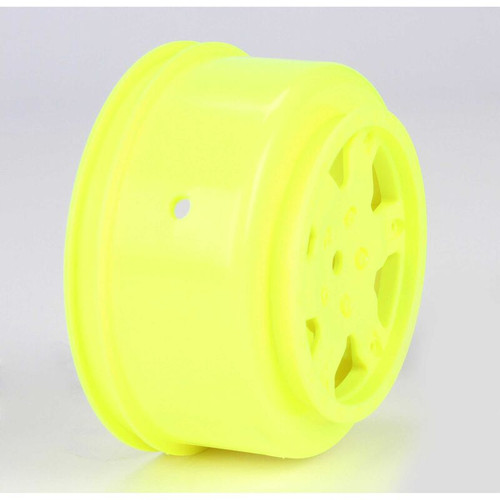 1/10 Front/Rear SCT 2.2/3.0 Wheels, 12mm Hex, Yellow (2): 22 SCT (TLR7004)