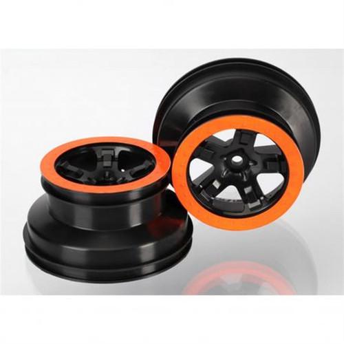 Traxxas 1/10 Beadlock 2WD Front Wheels Black Orange TRA5870X