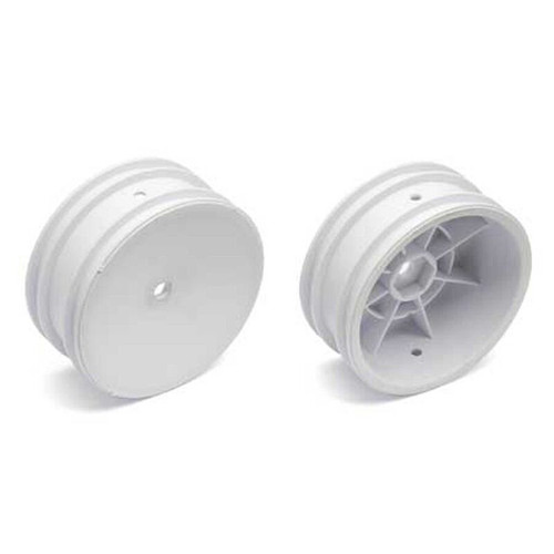 ASC9690 -- 1/10 Front 12mm Hex Wheels, White (2): Buggy