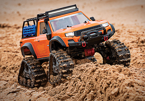 TRA82034-4 -- 1/10 Scale TRX-4 Crawler Equipped with Traxx