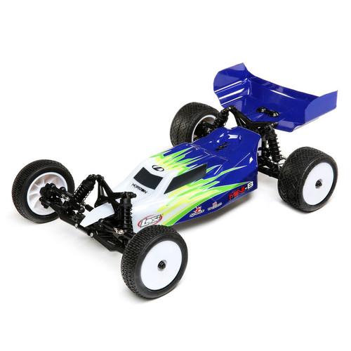 Losi 1/16 Mini-B Brushed RTR 2WD Buggy, Blue/White