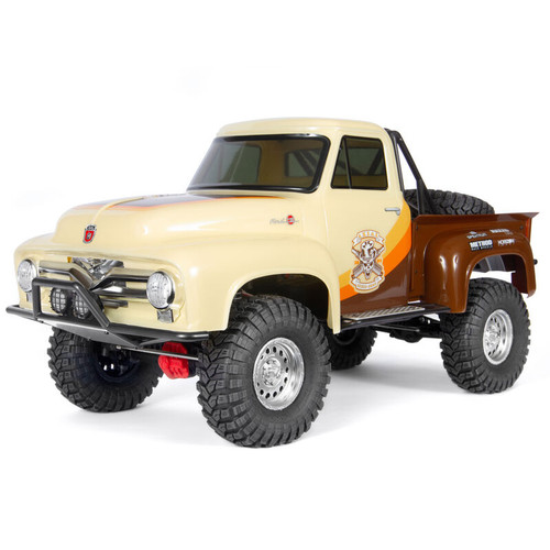 AXI03001T1 -- 1/10 SCX10 II 1955 Ford F-100 4WD Truck Brushed RTR