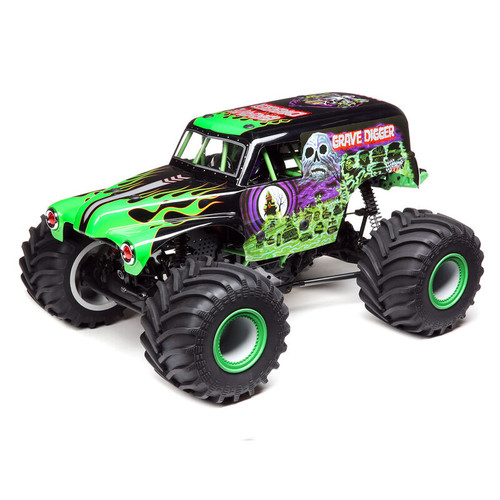 LMT 4WD Solid Axle Monster Truck RTR, Grave Digger- LOS04021T1