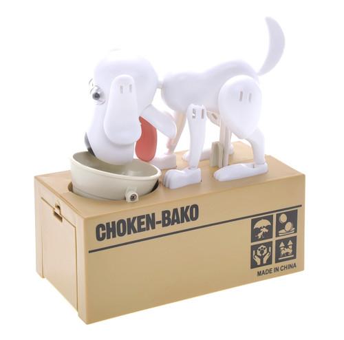 My Dog Piggy Bank - Robotic Coin Munching Money Box (White)