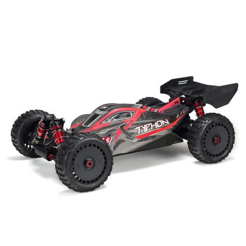 ARA8606V5 -- 1/8 TYPHON 6S V5 4WD BLX Buggy with Spektrum Firma RTR, Black