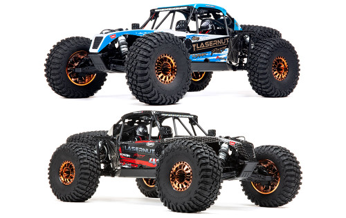 LOS03028T1 -- 1/10 Lasernut U4 4WD Brushless RTR with Smart and AVC, Blue