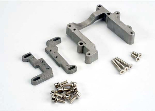 TRA4460 -- Engine mount, 2 piece, aluminum (w/ screws) (N. Rustler®/Sport)