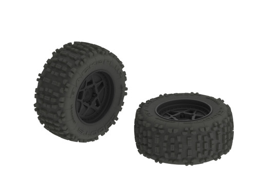 ARRMA dBoots Backflip MT 6S Tire Wheel Set (AR510092)