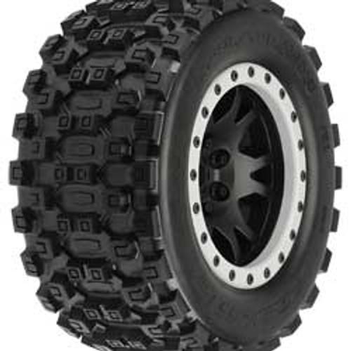 Badlands MX43 Pro-Loc Mounted, Impulse Black Wheels with Grey Rings (2)