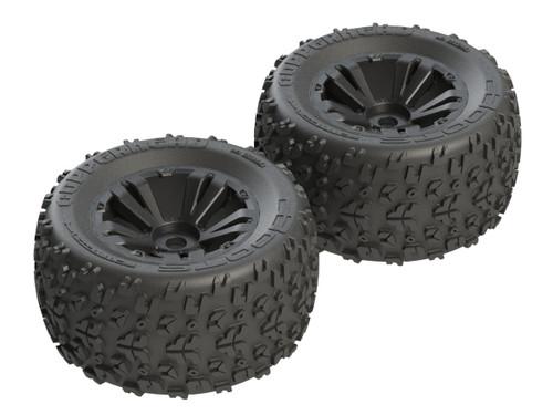 AR550013 dBoots 'Copperhead MT 6S' Tire Set Glued (Black) (2pcs)