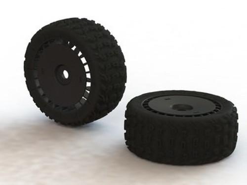 dBoots 'Katar T 6S' Tire Set Glued (Black) (2pcs) (ARAC9615) AR550048