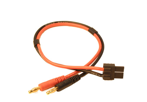 Charge Adapter: Male TRX HC to Male 4mm Bullets-300mm Wire RCE1621