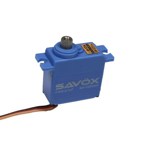 SAVSW0250MG  Waterproof Digital Micro Servo .11/69@6V Ideal for Traxxas 1/16