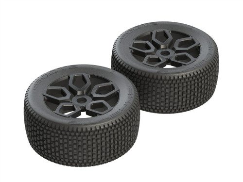AR550026 dBoots 'Exabyte NT' Tire Set Glued (Black) (2pcs)