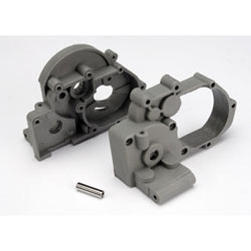 TRA3691A -- Gear Box Left/Right w/Idler Gear Shaft Gray Rustler Stampede Slash