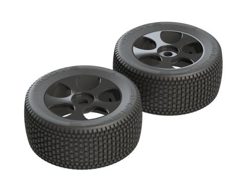 AR550011 dBoots 'Exabyte T 6S' Tyre Set Glued (Black) (2pcs)
