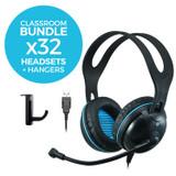 EDU-455 USB Classroom Headset Bundle