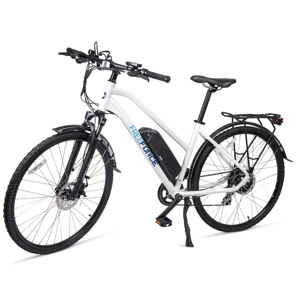 """The Indy Electric Commuter Bike - White 18"""" Frame"""