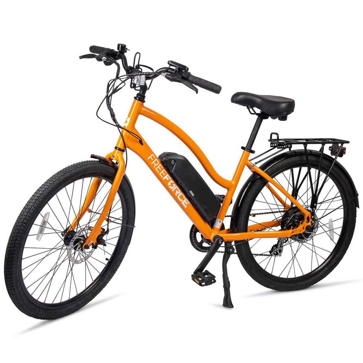 FreeForce electric bike beach cruiser orange
