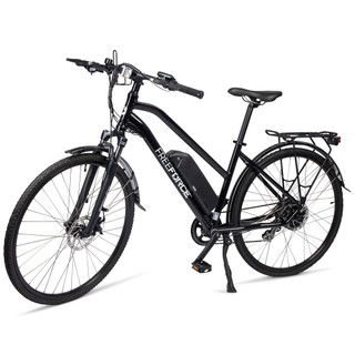 """The Indy Electric Commuter Bike - Gloss Black 18"""" Frame"""