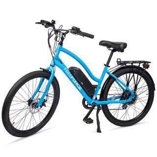 "The Avalon Electric Beach Cruiser Bike - Light Blue 16"" Frame"