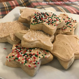 White Christmas Cut-Out Cookies