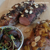 Amaretto Coffee Roasted Pork Tenderloin