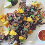 Big Island Coffee Shrimp Skewers