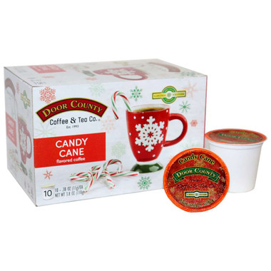 Candy Cane Coffee Single Serve Cups - 10 cups