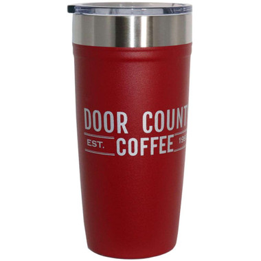 Door County Coffee Arctic Zone 20 oz Tumbler – Brick Red