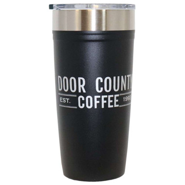 Door County Coffee Arctic Zone 20 oz Tumbler – Black