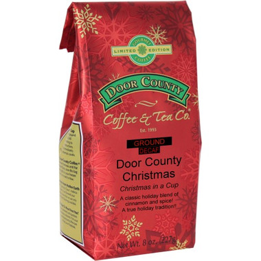 Door County Christmas Decaf Coffe 8 oz. Bag Ground