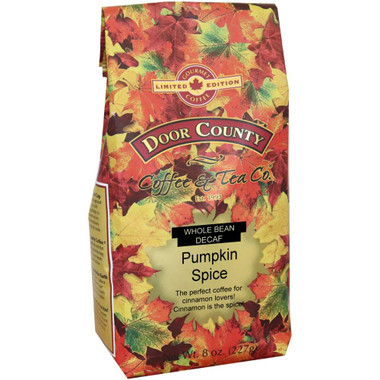 Pumpkin Spice Decaf Coffee 8 oz. Bag Wholebean