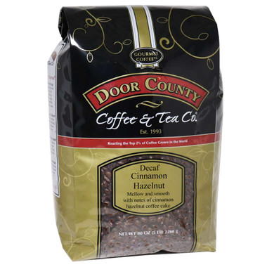 Cinnamon Hazelnut Decaf Coffee 5 lb. Bag Wholebean