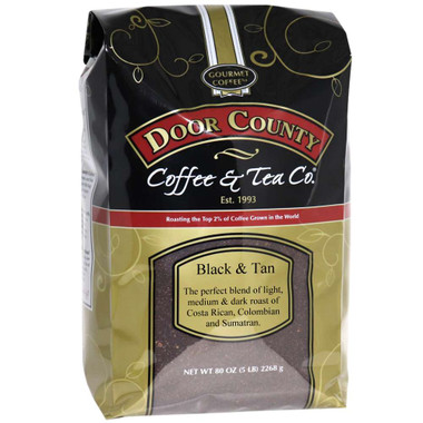 Black and Tan Coffee 5 lb. Bag Ground