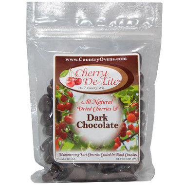 Dark Chocolate Covered Dried Door County Cherries