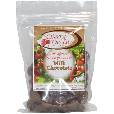 Cherry De-Lite Milk Chocolate Covered Dried Door County Cherries
