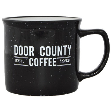 Door County Coffee Campfire Black Mug
