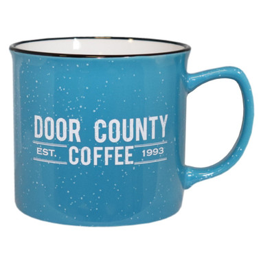 Door County Coffee Blue Campfire Mug