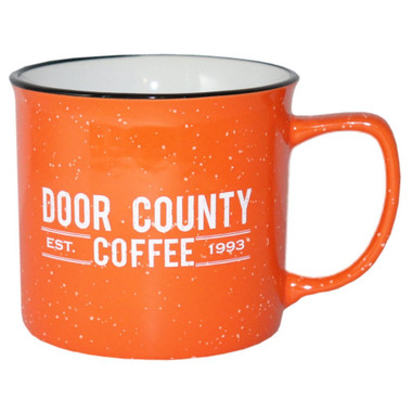 Door County Coffee Orange Campfire Mug